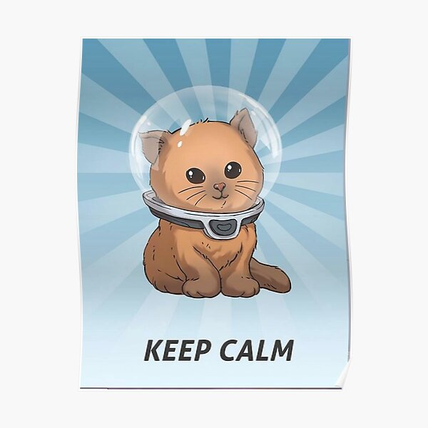 Keep Calm Kitty Poster
