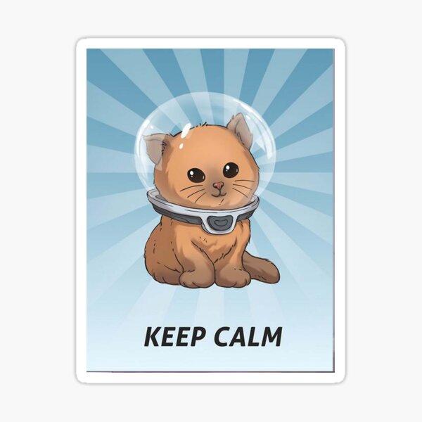 Keep Calm Kitty Sticker
