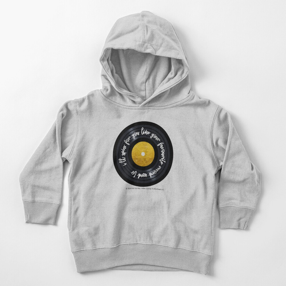 Favorite Record - Fall Out Boy - Gold Leaf Vinyl Toddler Pullover Hoodie