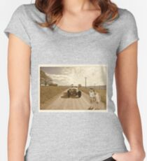 Down a Country Lane Women's Fitted Scoop T-Shirt