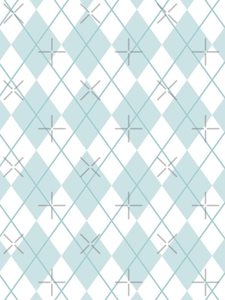 Argyle Blue/White by SusiBradley