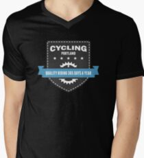 Cycling 365 Days a Year Mens V-Neck T-Shirt