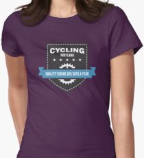 Cycling 365 Days a Year Women's Fitted T-Shirt