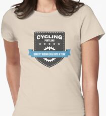 Cycling 365 Days a Year Womens Fitted T-Shirt
