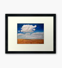 Big sky country with clouds Framed Print