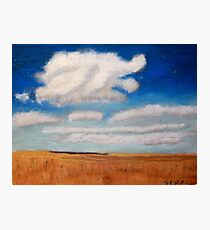Big sky country with clouds Photographic Print