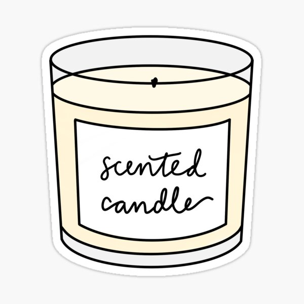 scented candle Sticker