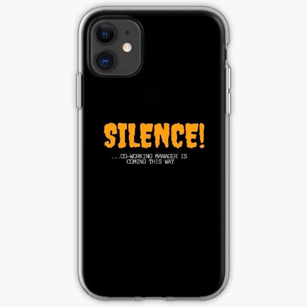 Silencio del gerente de coworking Funda blanda para iPhone