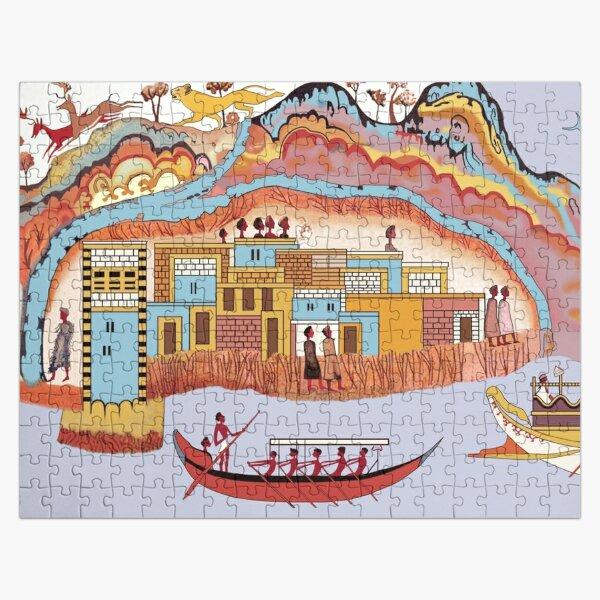Minoan Admirals Flotilla Fresco Thera Scene Restoration Jigsaw Puzzle