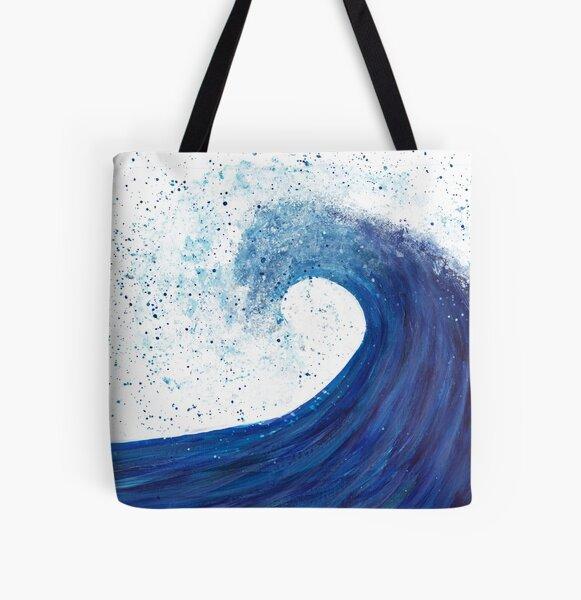 Big wave All Over Print Tote Bag