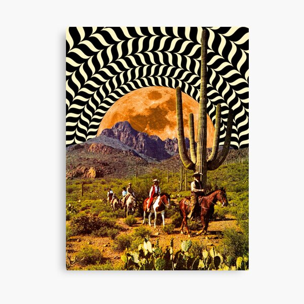 Illusionary Cowboys Canvas Print