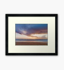 Sunset from the beach Framed Print