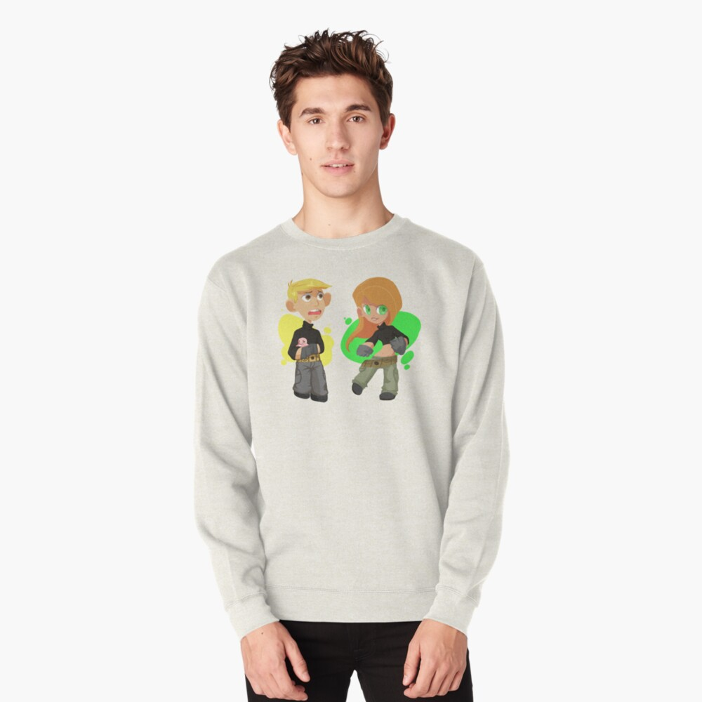 Kim Possible and Ron Stoppable chibi T-shirt Pullover Front