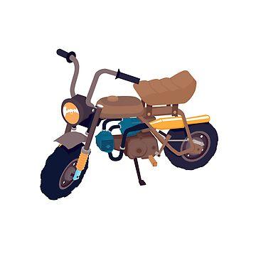 #1 Honda Z50 by brownjamesdraws