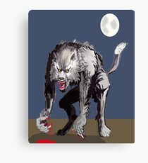 Beastial Werewolf Canvas Print