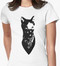 Cat Bandana Womens Fitted T-Shirt