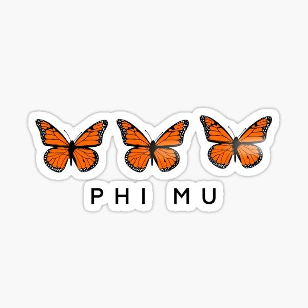 Phi Mu Monarch Butterfly Sticker