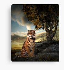 Tigers View Canvas Print