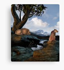 Winters Day Canvas Print
