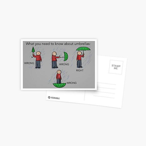 Umbrella Instructions Postcard