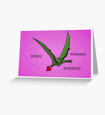 Valentines Pterodactyl Greeting Card
