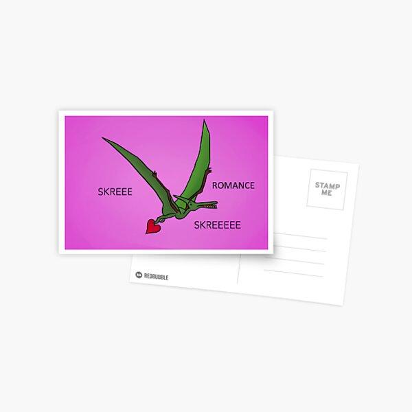 Valentines Pterodactyl Postcard