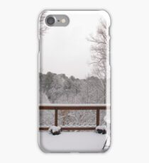 Peaceful snow scene iPhone Case/Skin