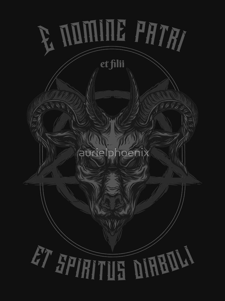 E nomine patri et filii et spiritus diaboli - Demonic Metal Design by aurielphoenix