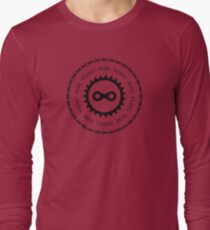 Ride & Pedal Black Text Long Sleeve T-Shirt