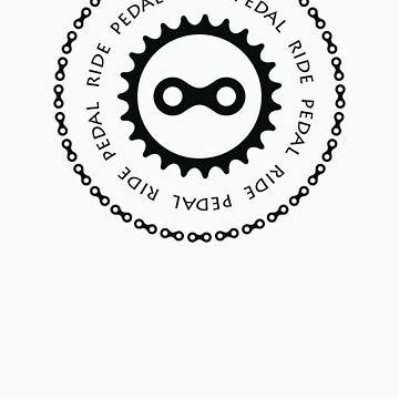 Ride & Pedal Black Text by CyclingPortland