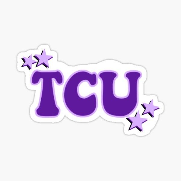 TCU with stars Sticker