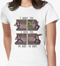 I Want You. I Need You.  Women's Fitted T-Shirt