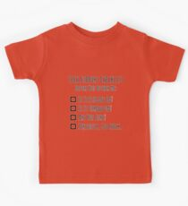 Tech Support Checklist Kids Tee