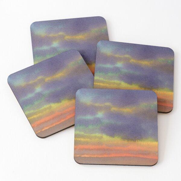 Fiery Sunset Coasters (Set of 4)