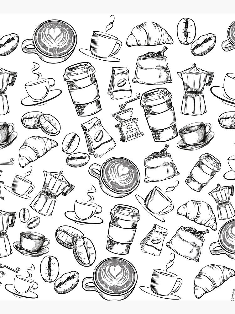 Coffee Pattern Design by MargueriteFaure