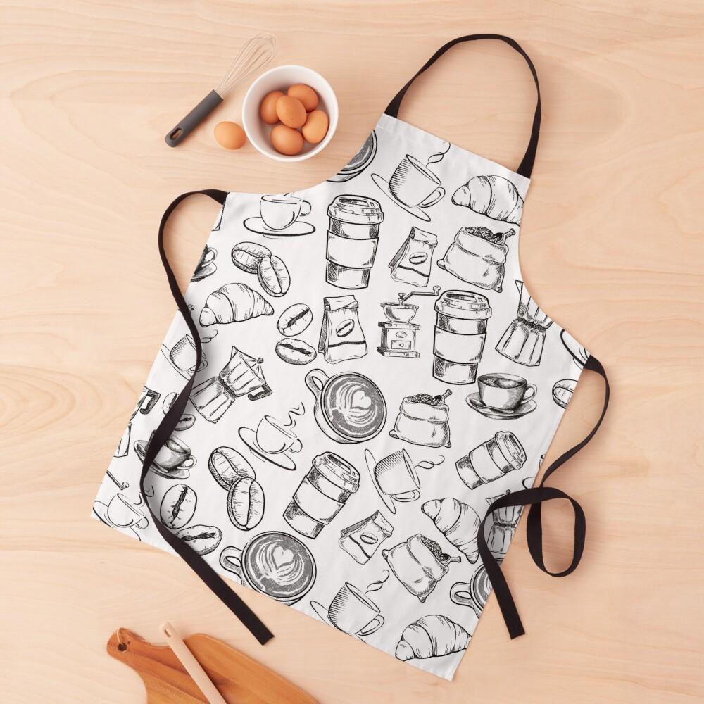 Coffee Pattern Design Apron