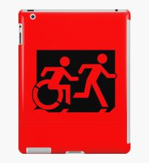 Accessible Means of Egress Icon and Running Man Emergency Exit Sign, Right Hand iPad Case/Skin