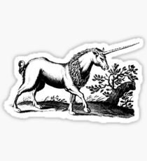 16th Century Engraved-style Unicorn Sticker