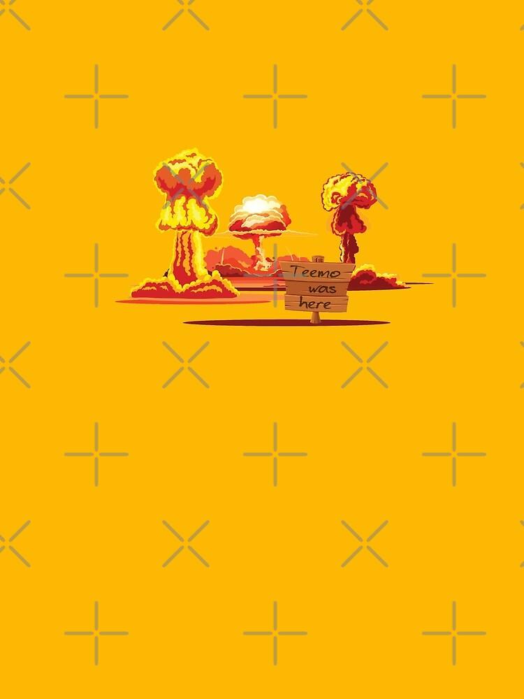Kultiges Gamer Design von League of Legends inspiriert: Teemo was here, Gelb Rot Orange von brainbubbles