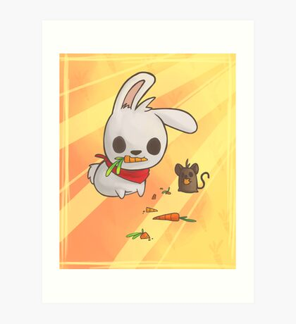 Bunny and Mouse Art Print