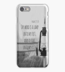 Psalm 119 Word Lamp iPhone Case/Skin