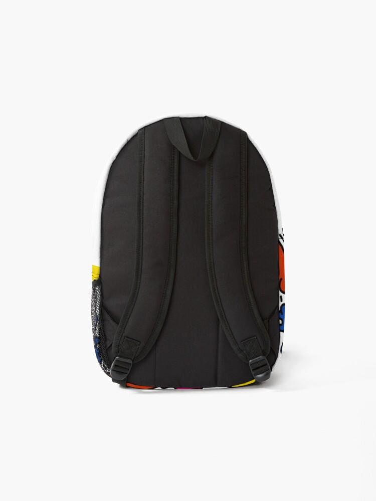 Alternate view of haring copy pop art Backpack
