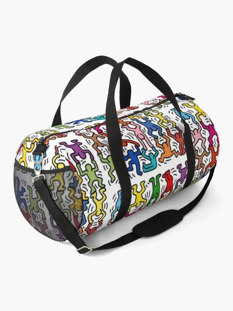 Alternate view of haring copy pop art Duffle Bag
