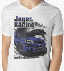 Jager Raging Fierce Badger Men's V-Neck T-Shirt