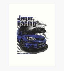 Jager Raging Fierce Badger Art Print