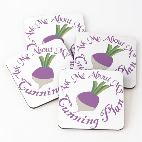 Ask Me About My Cunning Plan Coasters (Set of 4)
