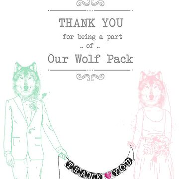 The Wedding Wolf Pack by suzannebrogan