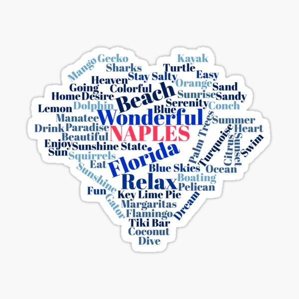 Wordcloud Naples Sticker