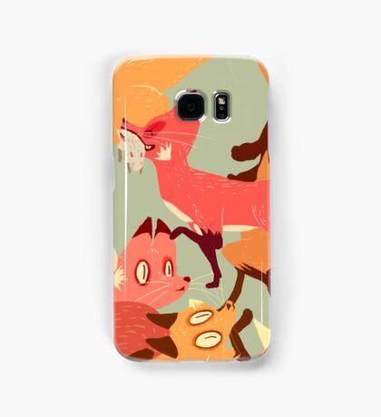 Seamless Fox Pattern Samsung Galaxy Case/Skin
