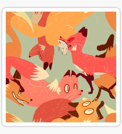 Seamless Fox Pattern Sticker
